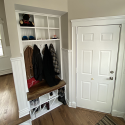 Built-in Cubby Locker and Oak Bench