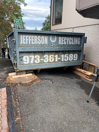 Jefferson Recycling dumpster