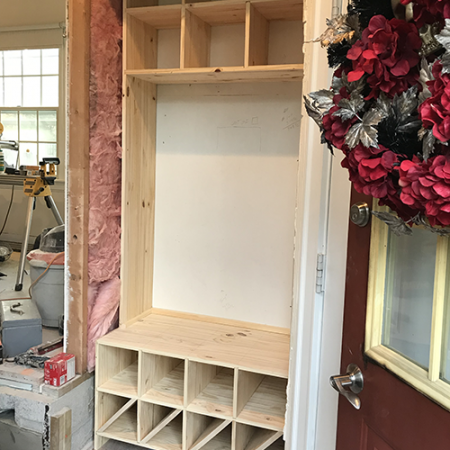 Cubby Locker Under Construction