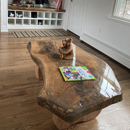 3-Piece Coffee Table From A Single Oak Slab