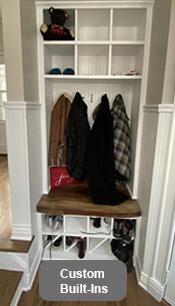 Built-In Cubby Storage Bench